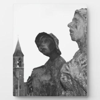 Great Famine of Ireland statues in Dublin Photo Plaque