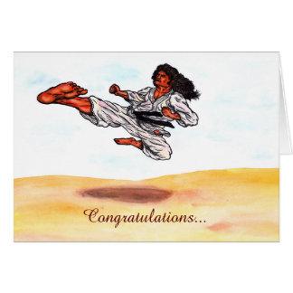 great flying karate master kick card