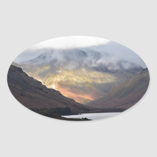 Great Gable from Wast Water Oval Sticker