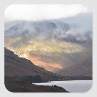 Great Gable from Wast Water Square Sticker