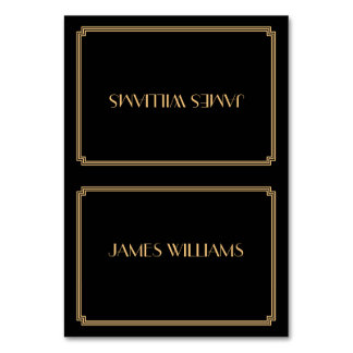 Great Gatsby Art Deco Black Place Setting Cards Table Cards