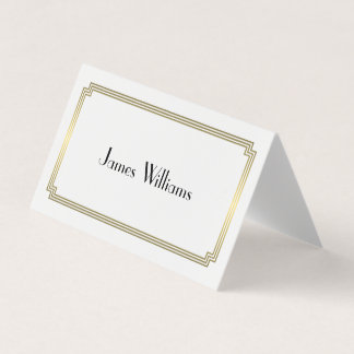 Great Gatsby Art Deco Folded Place Setting Cards