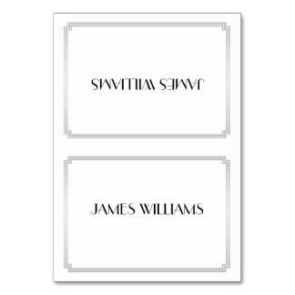 Great Gatsby Art Deco Silver Place Setting Cards Table Card