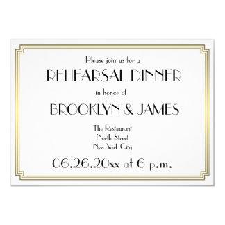 Great Gatsby Art Deco Wedding Rehearsal Invitation