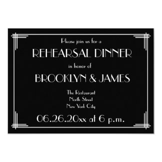 Great Gatsby Art Deco Wedding Rehearsal Invites