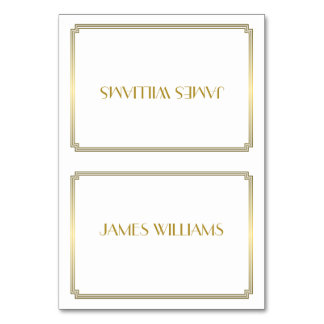 Great Gatsby Art Deco White Place Setting Cards Table Cards