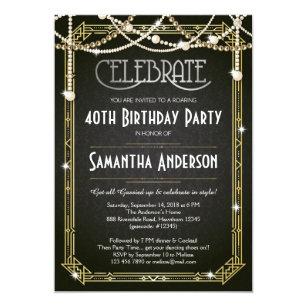 40th birthday invitations zazzle com au