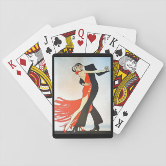 Great Gatsby Dancers in Black & Red  Playing Cards