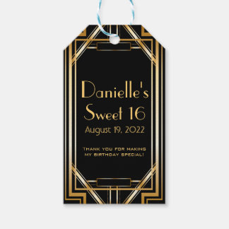 Great Gatsby Inspired Art Deco Favor Tags