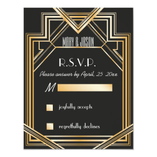 Great Gatsby inspired RSVP card