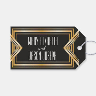 Great Gatsby inspired wedding favors tag