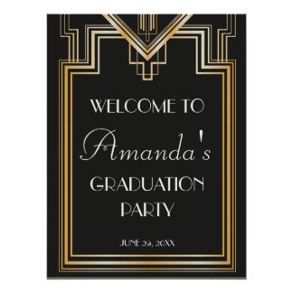 Great Gatsby Inspired Welcome Graduation Signage Poster