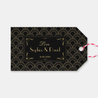 Great Gatsby Vintage 1920s Art Deco Wedding Gift Tags
