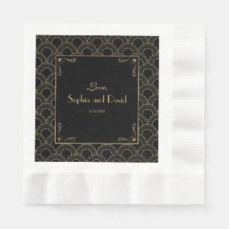 Great Gatsby Vintage 1920s Art Deco Wedding Paper Napkin