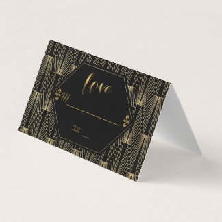 Great Gatsby Vintage 1920s Art Deco Wedding Place Card