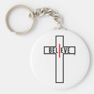 great gift item for the i believe joining basic round button key ring