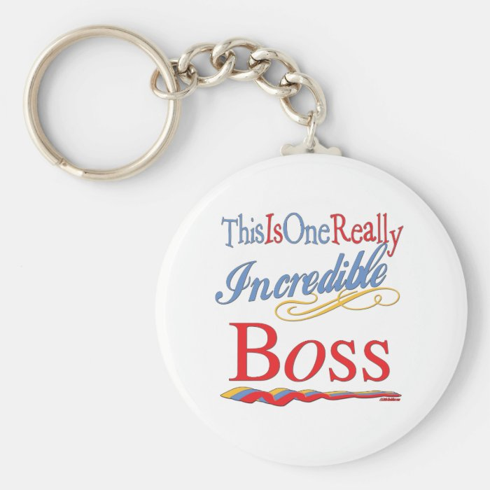 Great Gifts For Boss Basic Round Button Key Ring