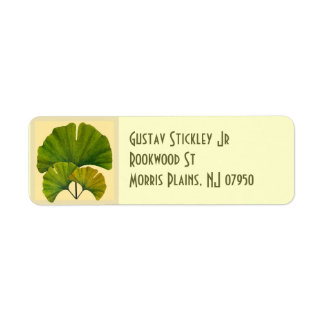 Great Ginkgo Art for Your Arts & Crafts Bungalow Return Address Label