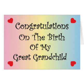 Great Grandchild Greeting Card