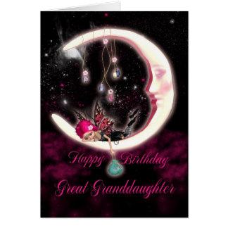Great Granddaughter Birthday Card - Fantasy Moon F