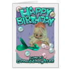 Great Granddaughter Birthday Card With Mermaid