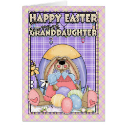 Granddaughter easter gifts on zazzle au great granddaughter easter card easter bunny e negle Choice Image