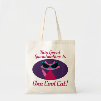 Great Grandma Cool Cat Tote Bag
