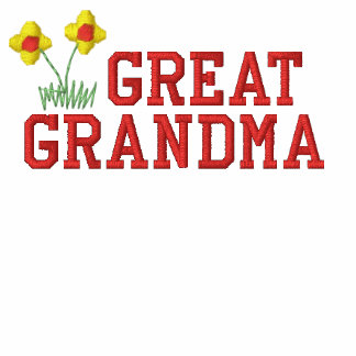 Great Grandma Flower Embroidered Shirt