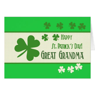 Great Grandma Happy St. Patrick's Day Card