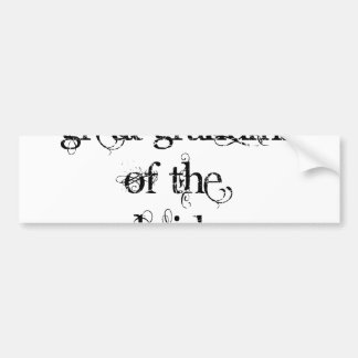 Great Grandma of the Bride Bumper Sticker