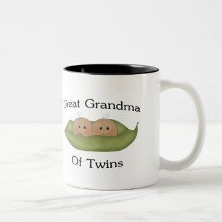 Great Grandma Of Twin Two-Tone Coffee Mug