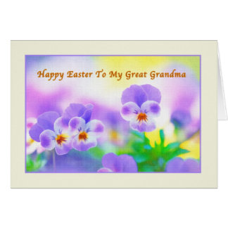 Great Grandma's Easter card with Pansies
