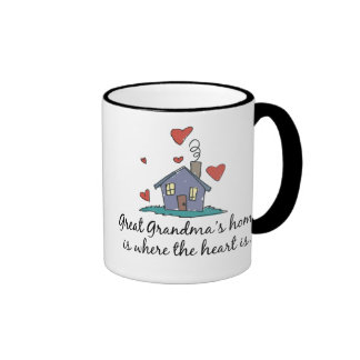 Great Grandma's Home is Where the Heart is Mugs