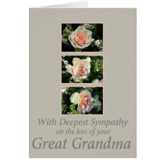 Great grandmother loss Rose sympathy Card