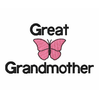 Great Grandmother Pink Butterfly Embroidered Shirt