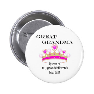 Great Grandmother Queen of Hearts Pin