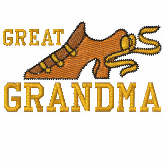 Great Grandmother Retro Shoe Embroidered Shirt