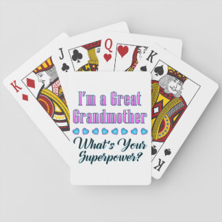 Great Grandmother Superpower Playing Cards