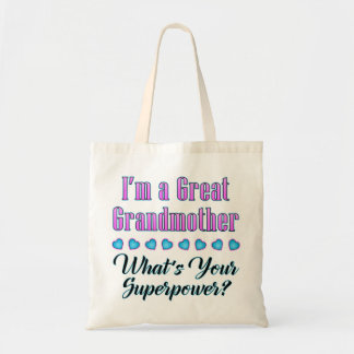 Great Grandmother Superpower Tote Budget Tote Bag