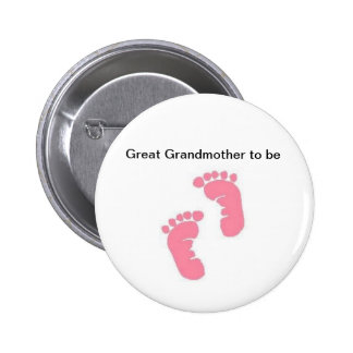 Great Grandmother to be 6 Cm Round Badge