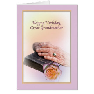 Great Grandmother's Birthday Card