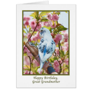 Great Grandmother's Birthday Card with Blue Parrot