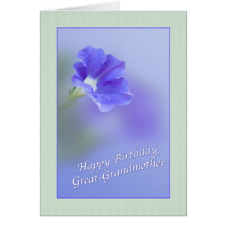 Great-Grandmother's Birthday with Petunia Greeting Card