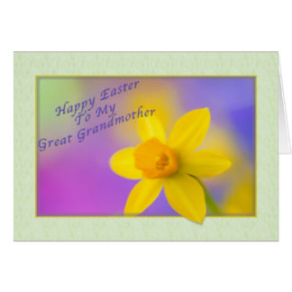 Great Grandmother's Easter card with Daffodil