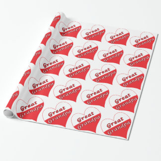 Great Grandpa Polish Heart Wrapping Paper