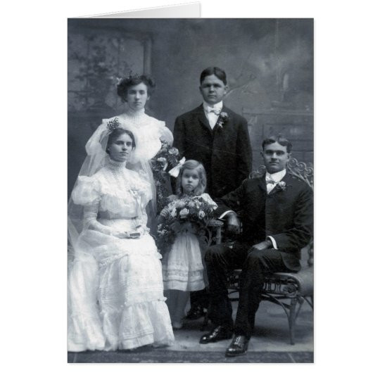 Great grandparents wedding card