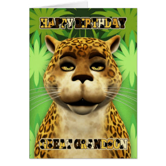 Great Grandson Leopard Jungle Birthday Card