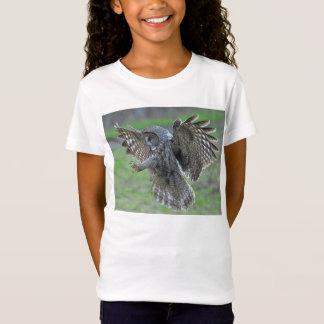 Great Gray Owl ~ Landing T-Shirt