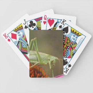 Great Green Bush-Cricket  (Tettigonia viridissima) Bicycle Playing Cards