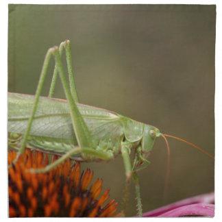 Great Green Bush-Cricket  (Tettigonia viridissima) Napkin